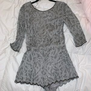 Free People sequin romper